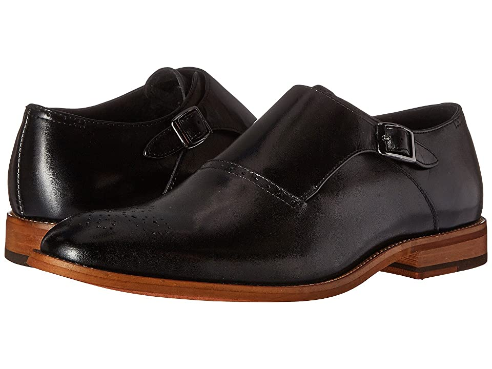 Stacy Adams Dinsmore Plain Toe Monk Strap (Black) Men