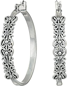 Filagree Hoop Earrings