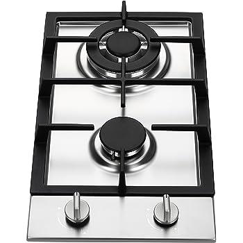 Ramblewood GC2-37P (LPG/Propane Gas) high efficiency 2 burner gas cooktop, ETL Safety Certified.