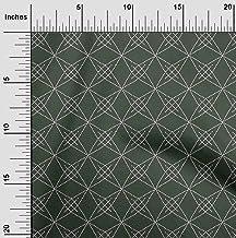 oneOone Cotton Poplin Fabric Shapes Geometric Sashiko Print Sewing Fabric BTY 42 Inch Wide