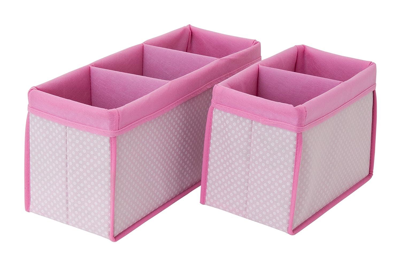 Delta Children Nursery Organizer Bin Set, Pink, 2 Count