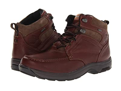 Dunham Exeter Gore-Tex(r) Moc Toe Chukka Waterproof (Dark Brown) Men