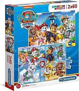 Clementoni Pat'Patrouille-2x60 Enfant-boîte de 2 Puzzles (60 pièces) -fabriqué en Italie, 5 Ans et Plus, 21617, No Color