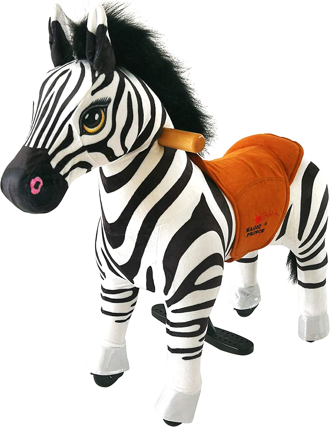Mofawangzi SaddleLess Rocking Rocking Rocking Ride on Mini Zebra