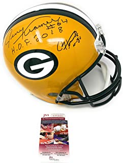 Jerry Kramer Paul Hornung Green Bay Packers DUAL Signed Autograph Full Size Helmet Inscribed JSA Witnessed Certified