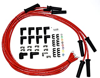 A-Team Performance Silicone High Performance Spark Plug Wire Set Universal Fit V8 V6 Plus Coil Wire Compatible with Buick Cadillac Chevy GMC Ford Mopar Oldsmobile Pontiac Red 8.0mm