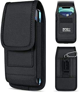 ykooe Phone Belt Holster Pouch for Samsung Galaxy S20 S21 Plus Ultra S9+ A21 Note 8 9 Moto G Power Lg Stylo 6 Oxford-Canva...