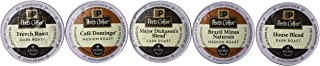 Peets Coffee Sampler Variety Pack without Decaf (Brazil Minas Naturais, Cafe Domingo, House Blend, Major Dickasons, French Roast), 30 K-cup