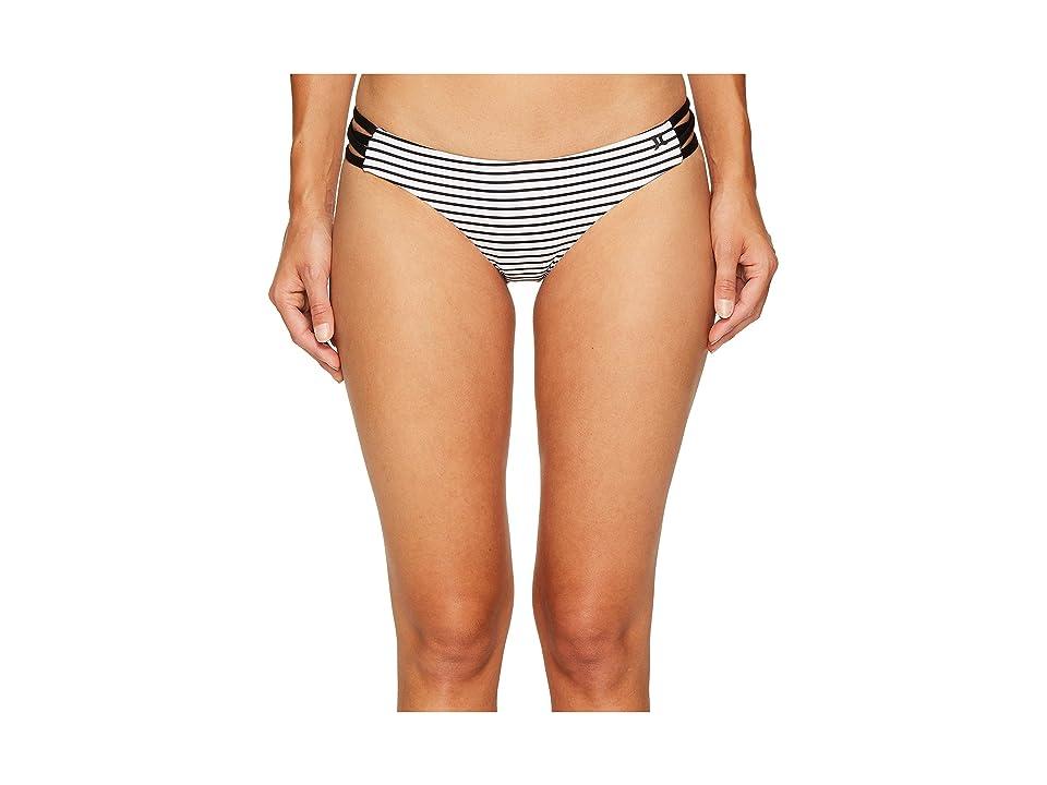 Hurley Quick Dry Stripe Surf Bottoms (White) Women