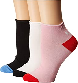 Kate Spade New York - Left Right 3-Pack Anklet Socks