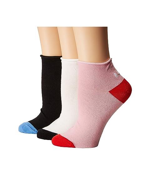 Kate Spade New York Left Right 3-Pack Anklet Socks