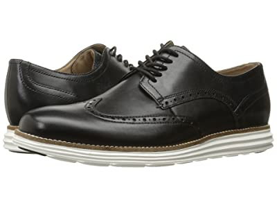 Cole Haan Original Grand Shortwing (Black Leather/White) Men