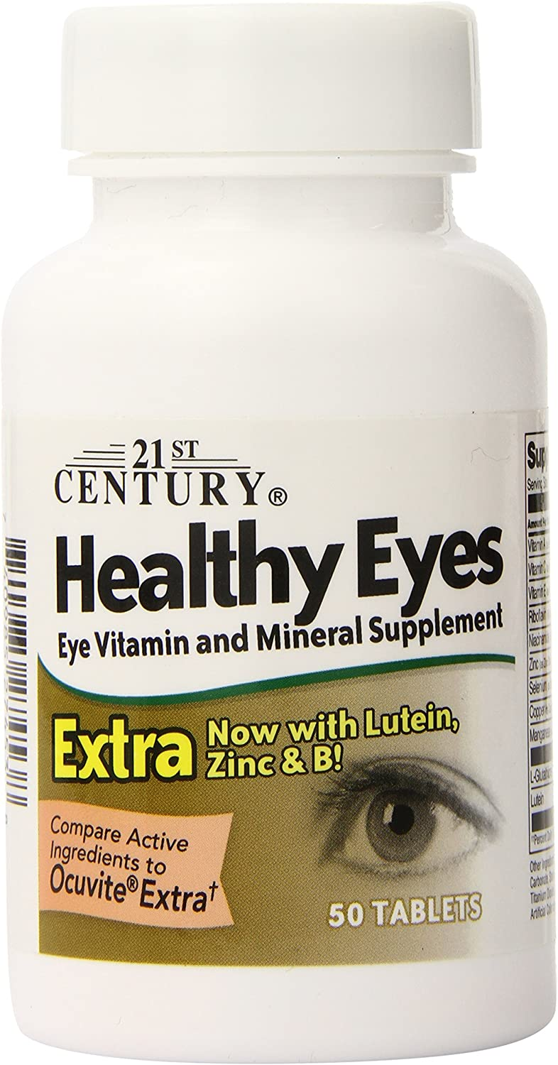 21st OFFicial mail order Century Healthy Eyes Max 53% OFF Extra Tablets of 50 Count 2 Pack