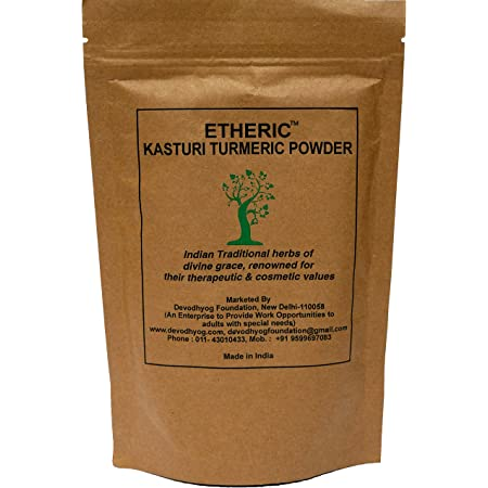 ETHERIC Wild Kasturi Turmeric Powder to remove acne (150 Grams)