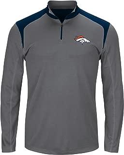 NFL Mens Broncos 1/4 Zip Poly Jersey