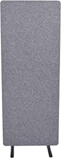 ReFocus Raw Freestanding Acoustic Room Divider – Reduce Noise and Visual Distractions with This Lightweight Room Separator (Castle Gray, 24