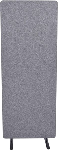 ReFocus Raw Freestanding Acoustic Room Divider Reduce Noise And Visual Distractions With This Lightweight Room Separator Castle Gray 24 X 62