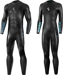 Synergy Triathlon Wetsuit 3/2mm - Volution Full Sleeve Smoothskin Neoprene for Open Water Swimming Ironman & USAT Approved