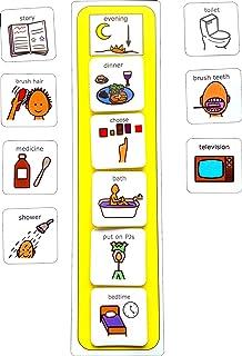 Autism Supplies And Developments Plastic Visual ASD Evening Routine (Picture Communication Symbols PCS)