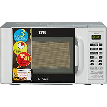 IFB 17 L Grill Microwave Oven (17PG3S, Metallic Silver)