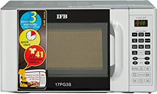 IFB 17 L Grill Microwave Oven (17PG3S, Metallic Silver, With Starter Kit)