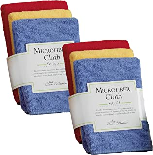 DII Cleaning Collection Microfiber, Dishcloth Set, Primary Colors 6 Piece