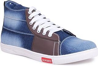 YAHE Men's Casual Denim Sneaker Shoes Y-4419