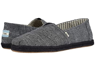 TOMS Alpargata (Black Rugged Chambray on Mono Rope) Men