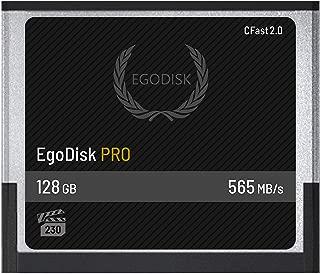 EgoDisk PRO 128GB CFast 2.0 Card - (BLACKMAGIC URSA Mini | BMPCC Pocket | 4K • 4.6K • 6K | Canon • XC10 • XC15 • 1DX MARKII • C200 • C300 | HASSELBLAD H6D-50C • H6D-100C | VEO S) - 3 Year Warranty