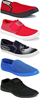WORLD WEAR FOOTWEAR Sports Running Shoes/Casual/Sneakers/Loafers Shoes for Men Multicolor (Combo-(5)-1219-1221-1140-690-780)