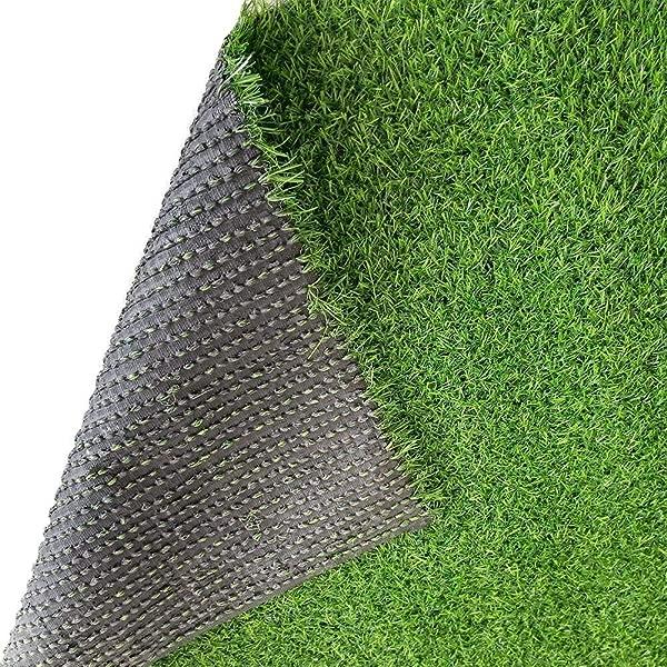 Ecover 人造草户外地毯 36X48 人造假草装饰垫地毯地毯草坪整洁边缘适合家庭宠物草坪和景观户外或室内刀片高度 1 18 春草