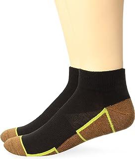 Copper Sole Men's 2 Pack Athletic Ankle Socks