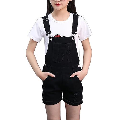 ffb3cfe64cc Sitmptol Big Girls Kids Denim Overalls Cute Jumpsuits Casual Bib Boyfriend  Romper 1 Piece