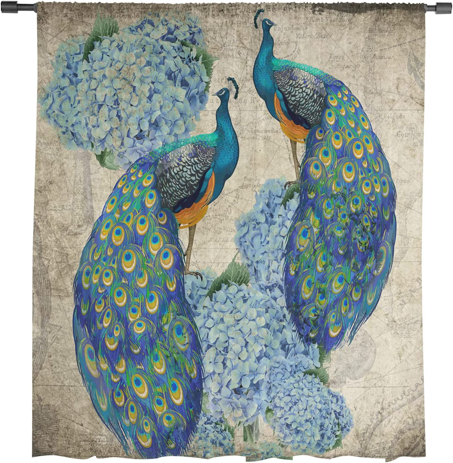 Peacock Voile Window Ranking TOP4 Curtains Lightweight Finally resale start Durable but Drapes Pa