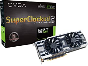 EVGA GeForce GTX 1080 SC2 Gaming, 8GB GDDR5X, iCX Technology - 9 Thermal Sensors & RGB LED G/P/M, Asynch Fan, Optimized Airflow Design Graphics Card 08G-P4-6583-KR