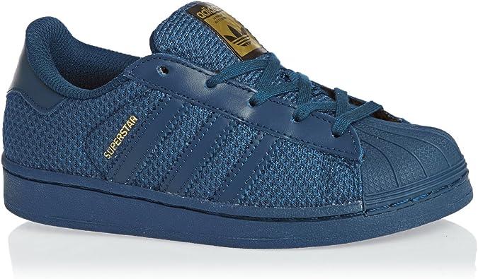 adidas Superstar Nylon Bleu Marine Enfant Bleu 33 : Amazon.fr ...