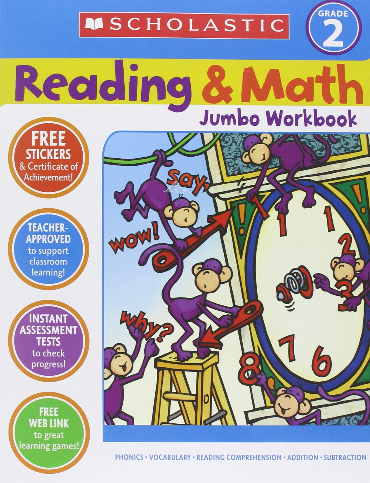 Image OfReading & Math Jumbo Workbook: Grade 2