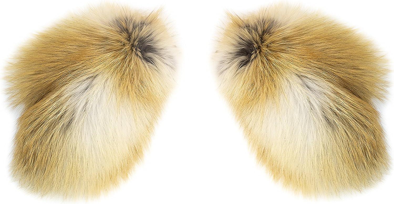 MITTENS IN NATURAL FOX FUR Mittens from natural Fox fur for women, 100% Siberian Fox fur