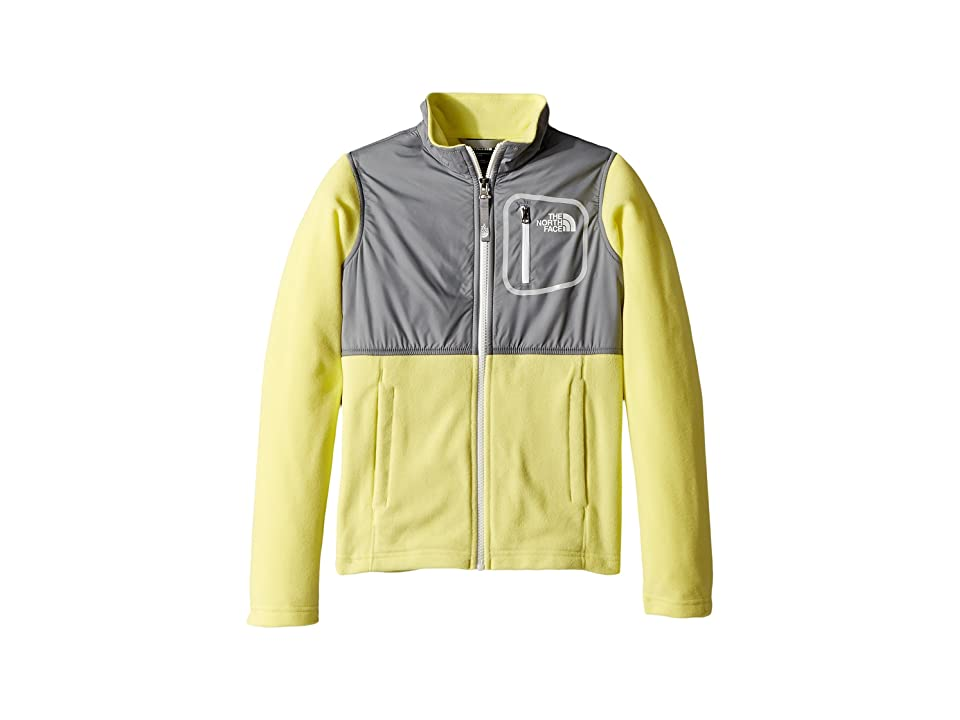 The North Face Kids Glacier Track Jacket (Little Kids/Big Kids) (Stinger Yellow/Mid Grey/TNF White (Prior Season)) Girl