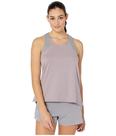 RYU Tech Racerback Tank Solid/Mesh (Dusty Gray) Women
