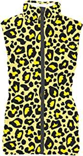 Rainbow Rules Bright Leopard Print Womens Puffer Vest Bodywarmer Gilet