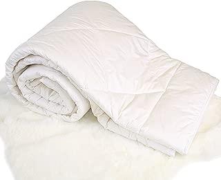 Woolino Premium Australian Washable Wool Comforter, Mid-Weight Crib Wool Duvet Quilt Kids Blanket, Crib/Toddler Bed Size 37