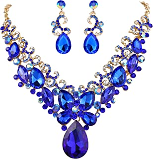 Best royal blue and gold necklace Reviews