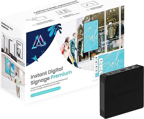Mandoe - DIY Instant Digital Signage - Media Player + Premium Content Creation Software