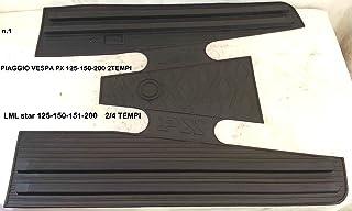 LML Star Trittbrettauflage für Modelle 125,150, 151 und200cm³, schwarz, aus Gummi,Matte