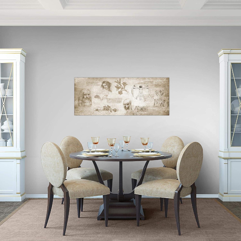 listo para colgar 100 x 40 cm Vista de impresi/ón en lienzo Sal/ón Apartamento decoraci/ón de la mesa de la pared de Leonardo da Vinci 700412th