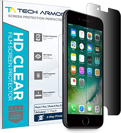 Tech Armor 4Way 360 Degree Privacy Apple iPhone 7 Plus/iPhone 8 Plus (5.5-Inch) Film Screen Protector [1-Pack] for Apple iPhone 7 Plus/ 8 Plus