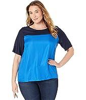 Plus Size Azkia 3/4 Sleeve Blouse