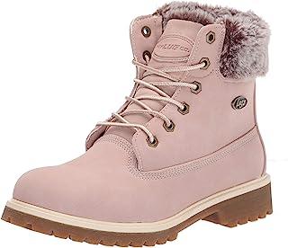 Lugz Women's Convoy Fur Classic 6-inch Chukka Fashion Boot, Soft Pink/Bone/Gum, 7, M