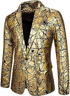 Bakugou Men Gilding Dance Prom Clubwear 1 Button Blazer Dress Blazer Jacket Suit Coat